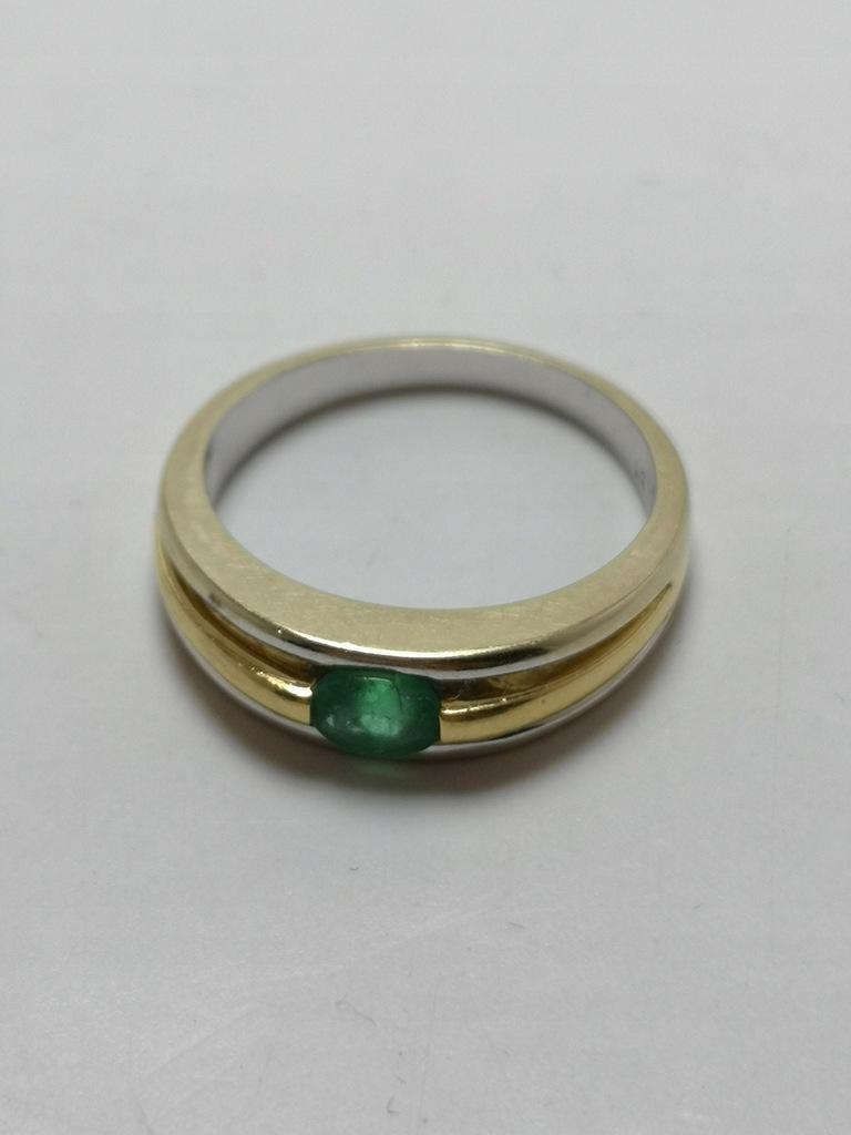 Złoty pierścionek p.750 5,1g r.16