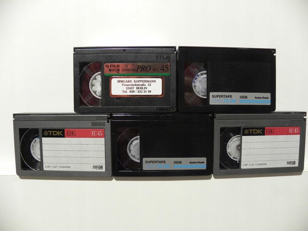 5 KASET VHS C SUPERTAPE TDK FUJI DO KAMERY