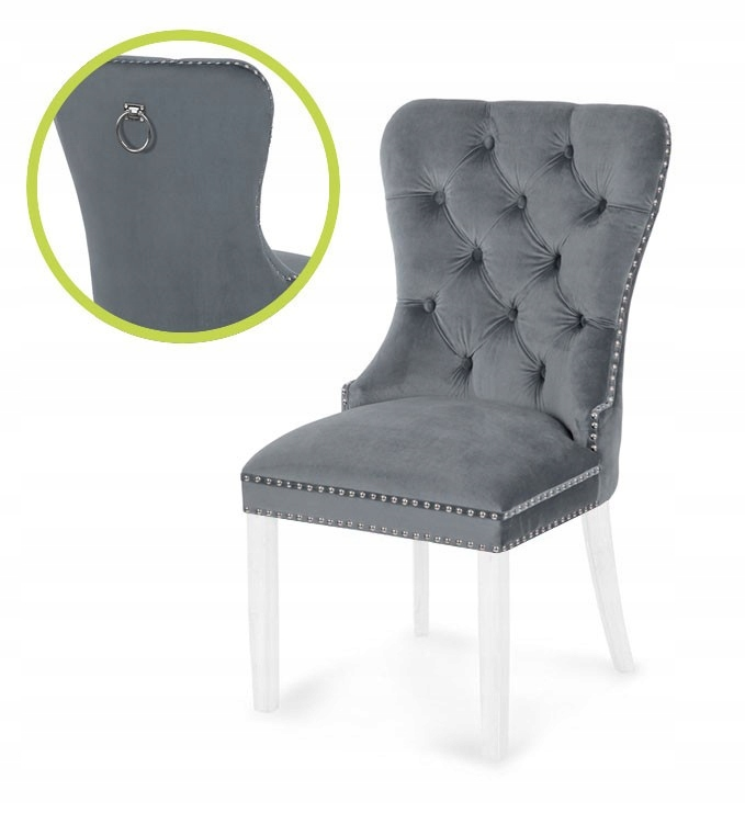krzesło MADAME II szary/biały/ BL14