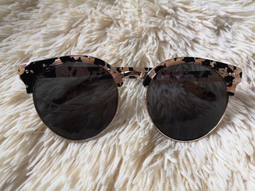 RESERVED_okulary przeciwsłoneczne PUDROWY RÓŻ zara
