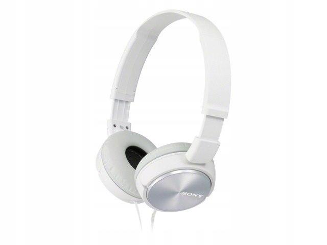 Słuchawki Hands-free, mikrofon MDR-ZX310AP white