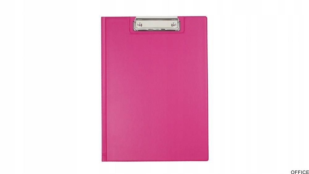 Teczka z klipsem A4 pink BIURFOL KKL-04-03 (pastel