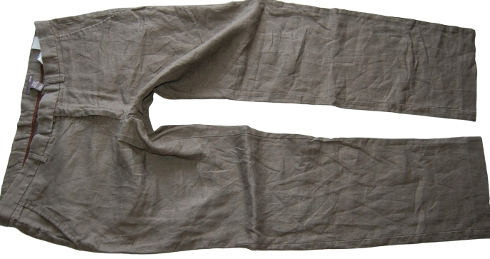 1L112 spodnie LEN BY H M 54 38R PAS 100