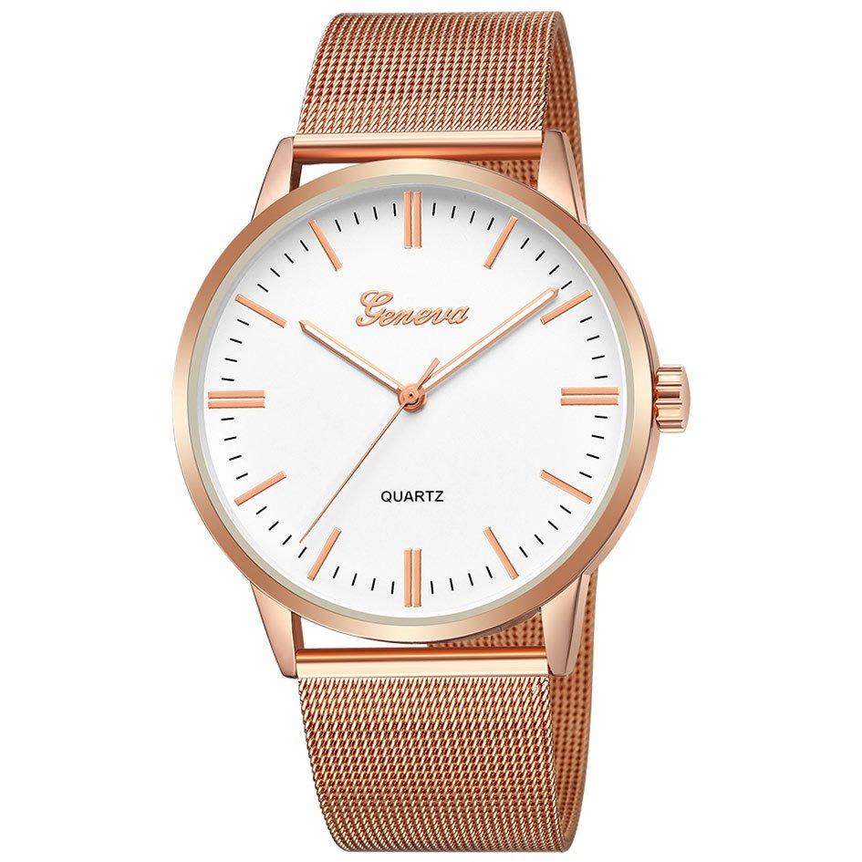 Zegarek damski GENEVA różowe złoto szeroka koperta