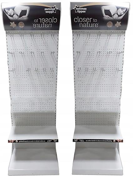 Stojaki perforowany z hakami 2 szt. 65x182x49 cm