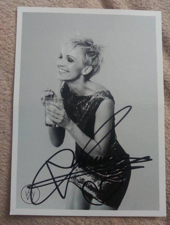 Ania Wyszkoni - autograf!