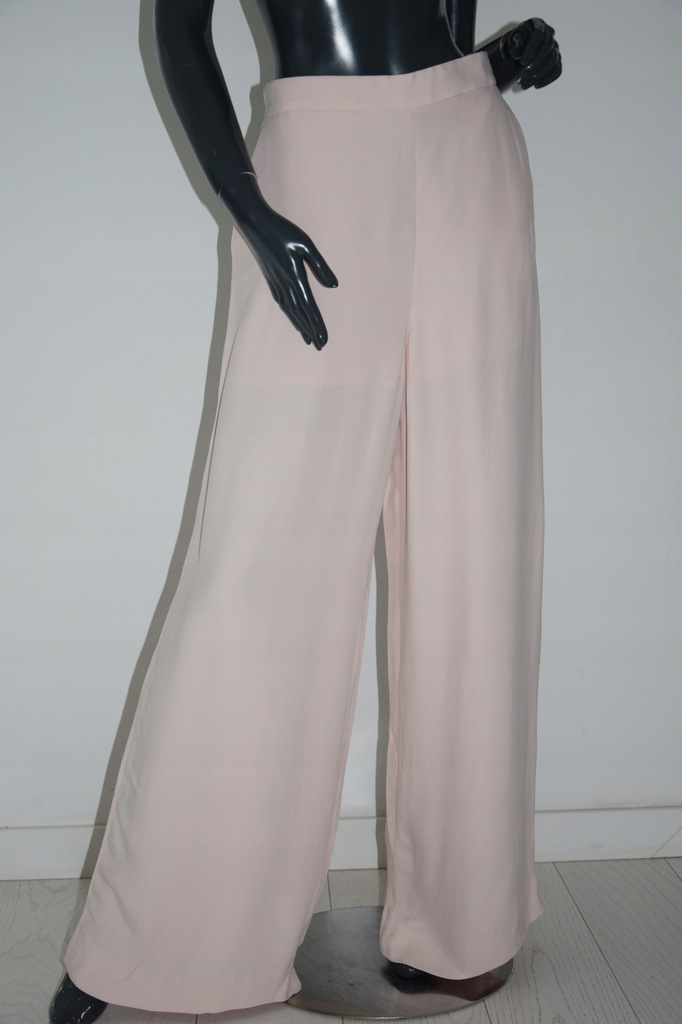 cos łososiowe spodnie kuloty wiskoza r. M/L