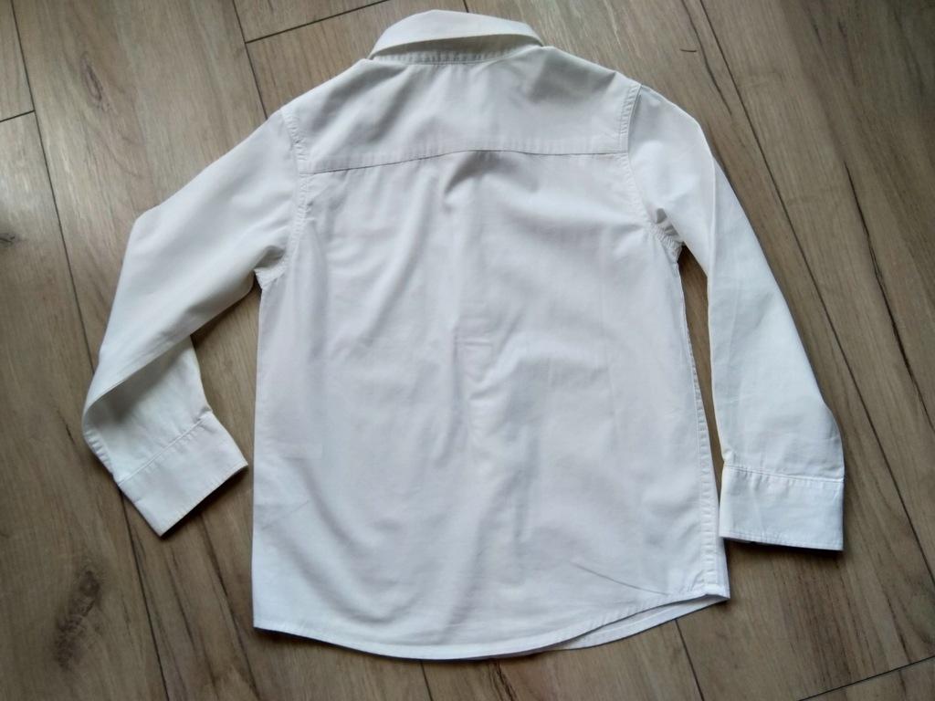 Elegancka biała koszula chłopięca 116 H&M 8105826246  fVUio