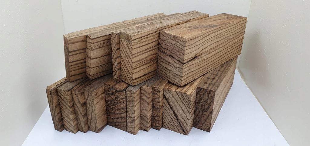 (758) zestaw drewna ZEBRANO