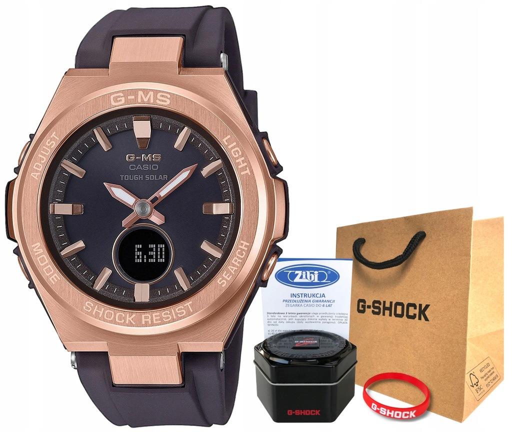 Zegarek damski Casio G-Shock MSG-S200G-5AER solar