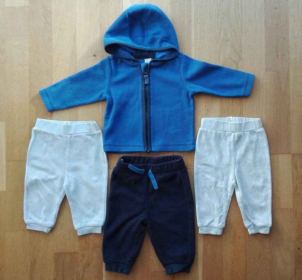 Dres polarowy + Spodnie welurowe C&A 68