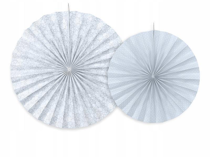 Rozety dekoracyjne, szaroniebieski, 2 szt