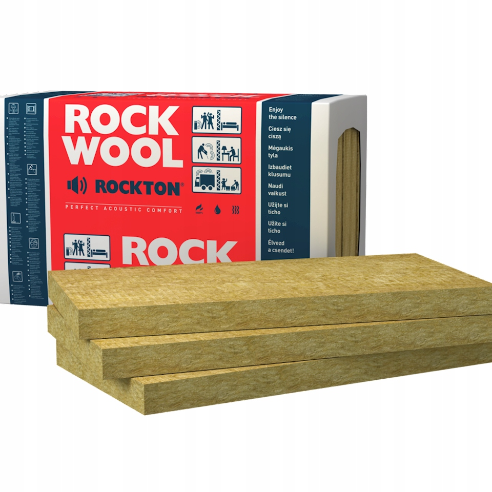 skalna wełna mienralna Rockwool Rockton 80mm 8cm
