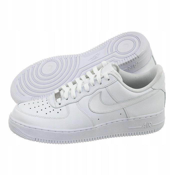 Buty Nike Air Force 1 Niska DamskieMęskie W Białe