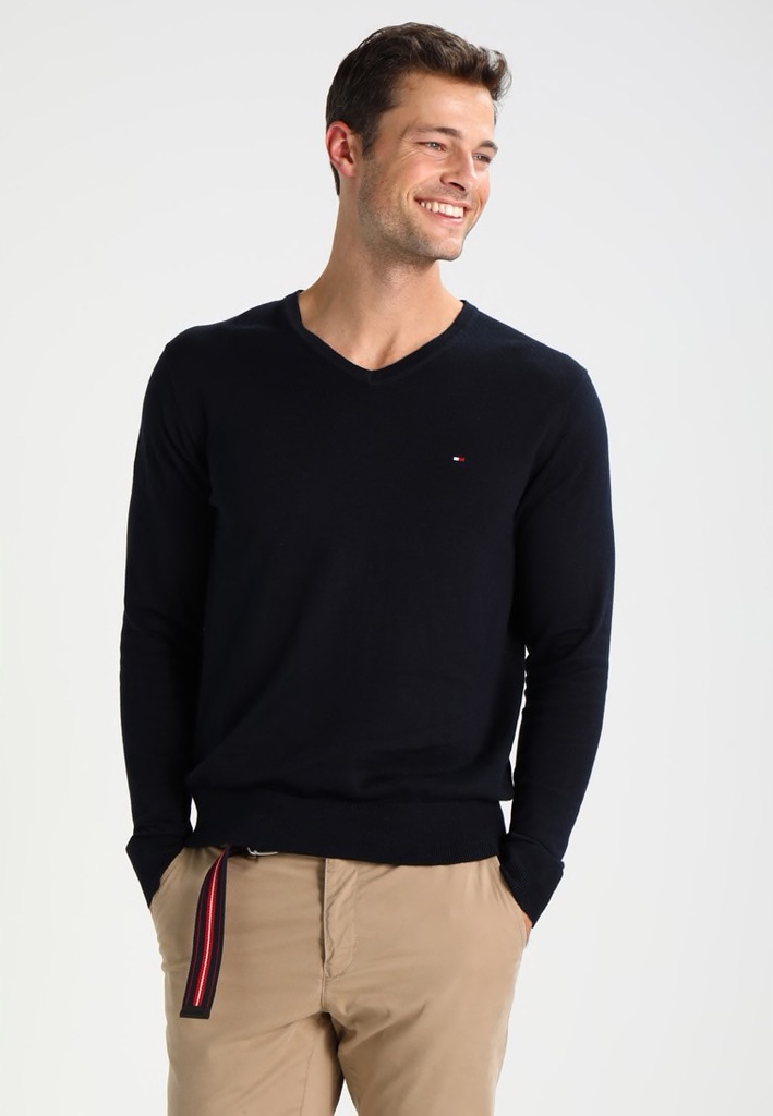 Tommy Hilfiger Rozmiar L SWETER For Men Basic Logo