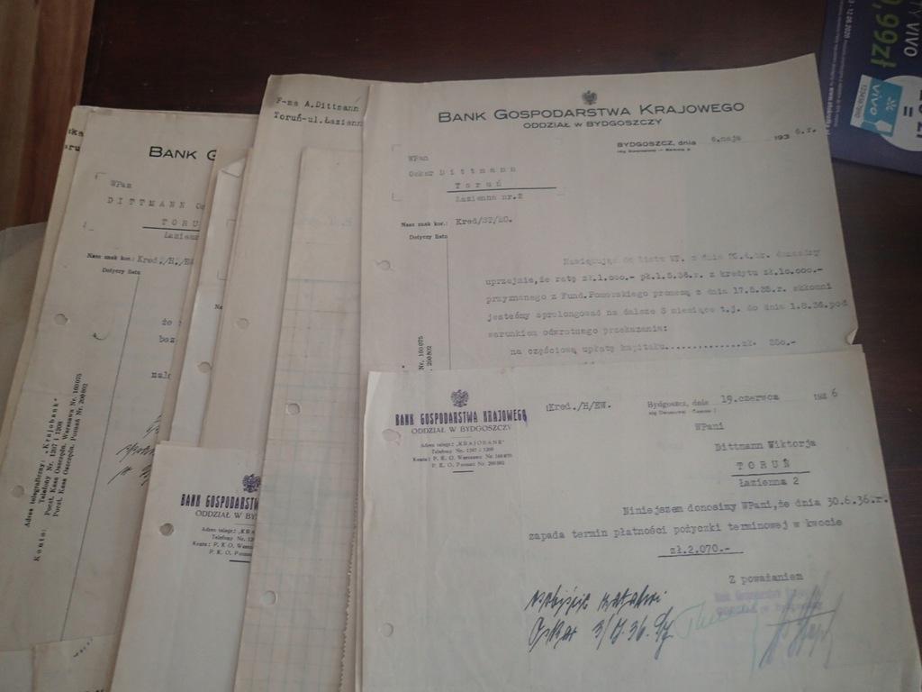 68 x Bank Gospodarstwa Krajowego Bydgoszcz 1936 r