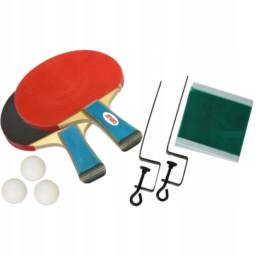 Zestaw do tenisa stołowego Enero 2 rakietki 3 piłe