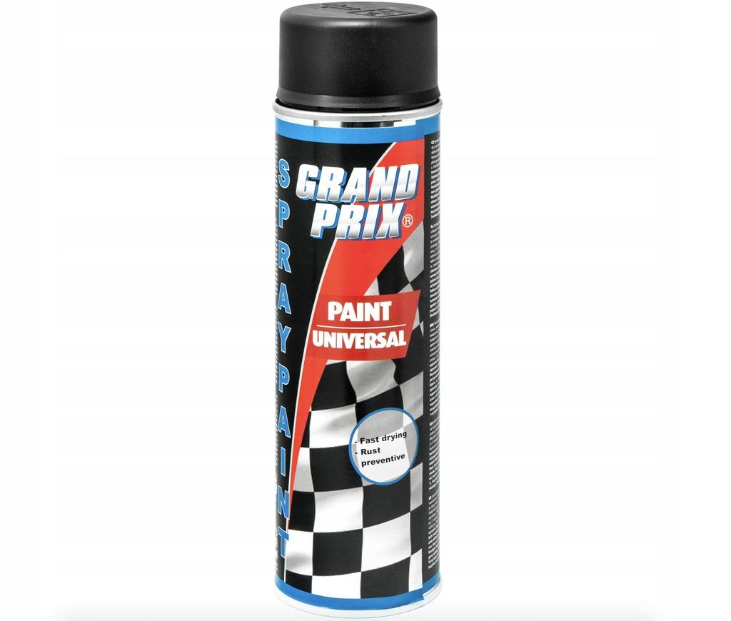 Lakier samochodowy czarny mat GRAND PRIX 500ml