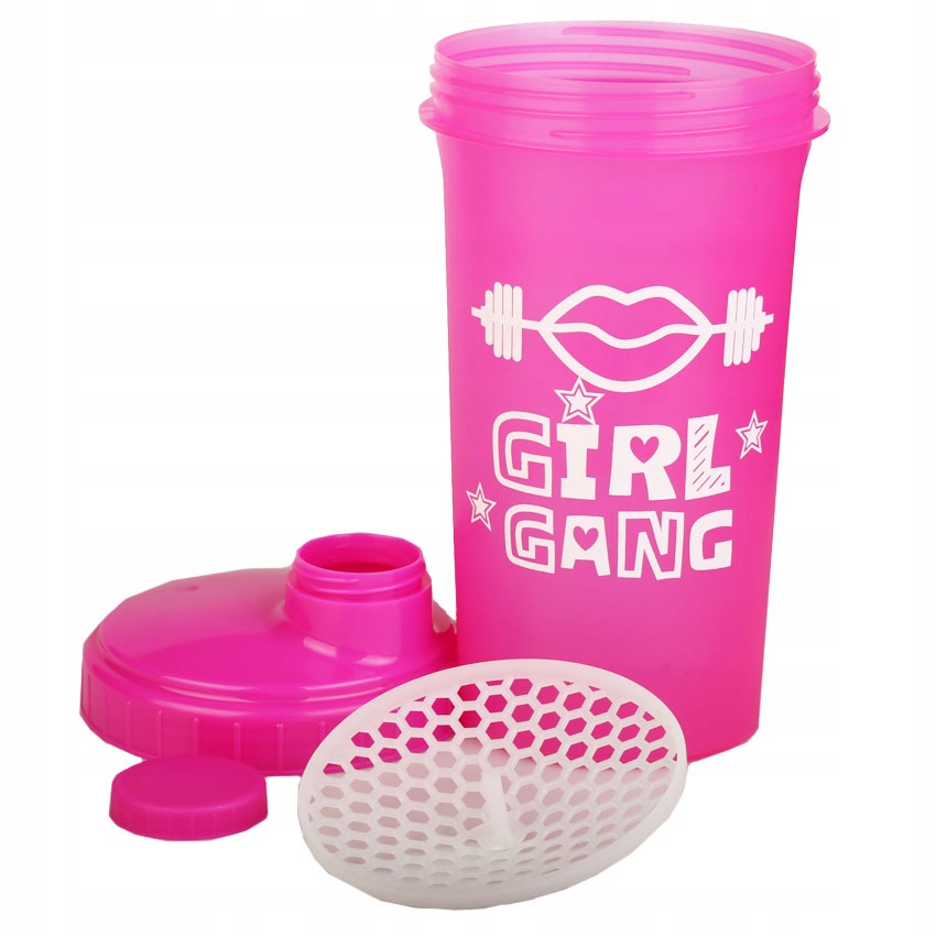 Shaker 700 ml szejker 0,7L RÓŻOWY PINK GIRL GANG