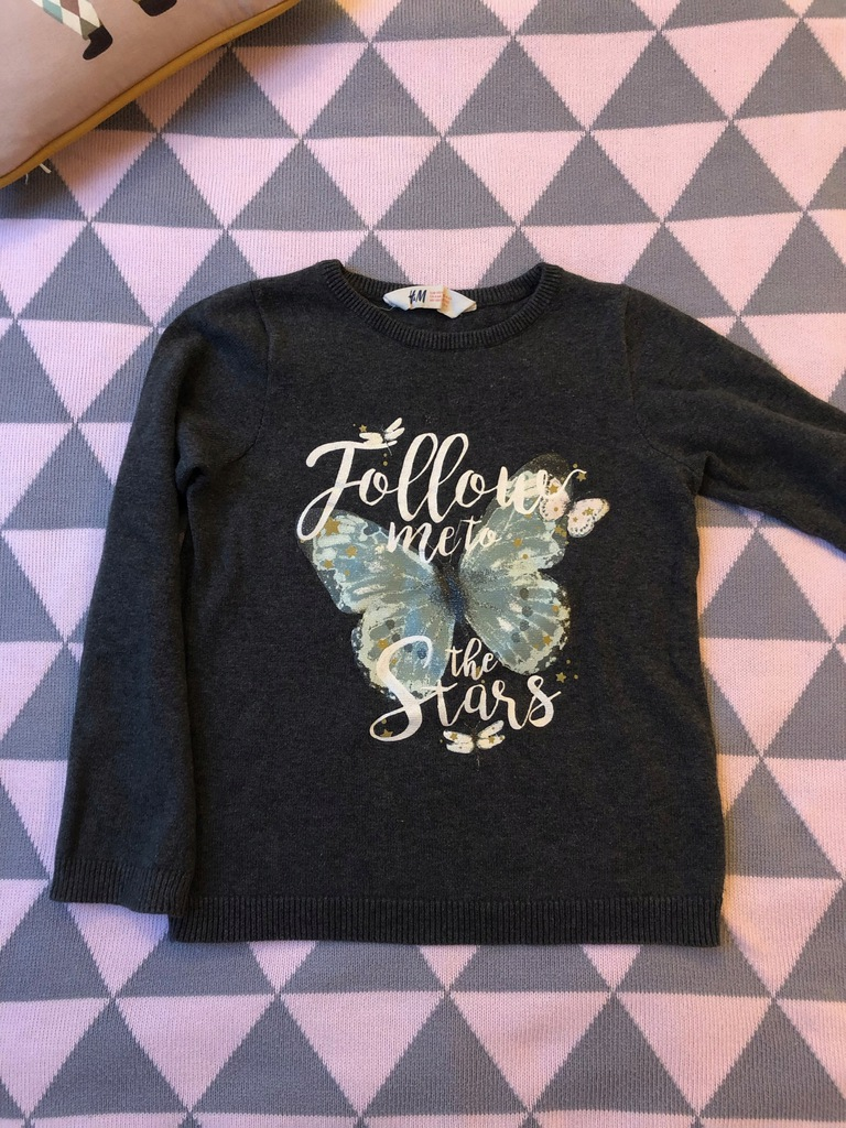 Sweter H&M z motylem, 5-6 lat, 116
