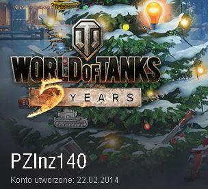 WOT World of Tanks w plutonie z/ pluton z PZInz140