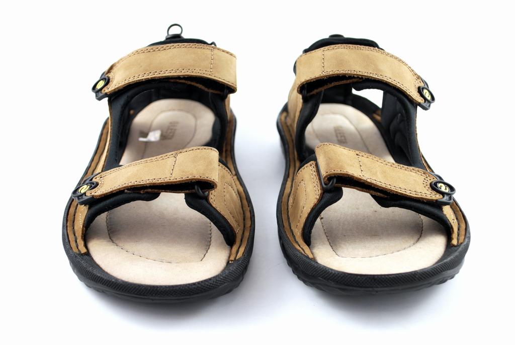 sandały męskie lesta 1034 beżowo-czarne