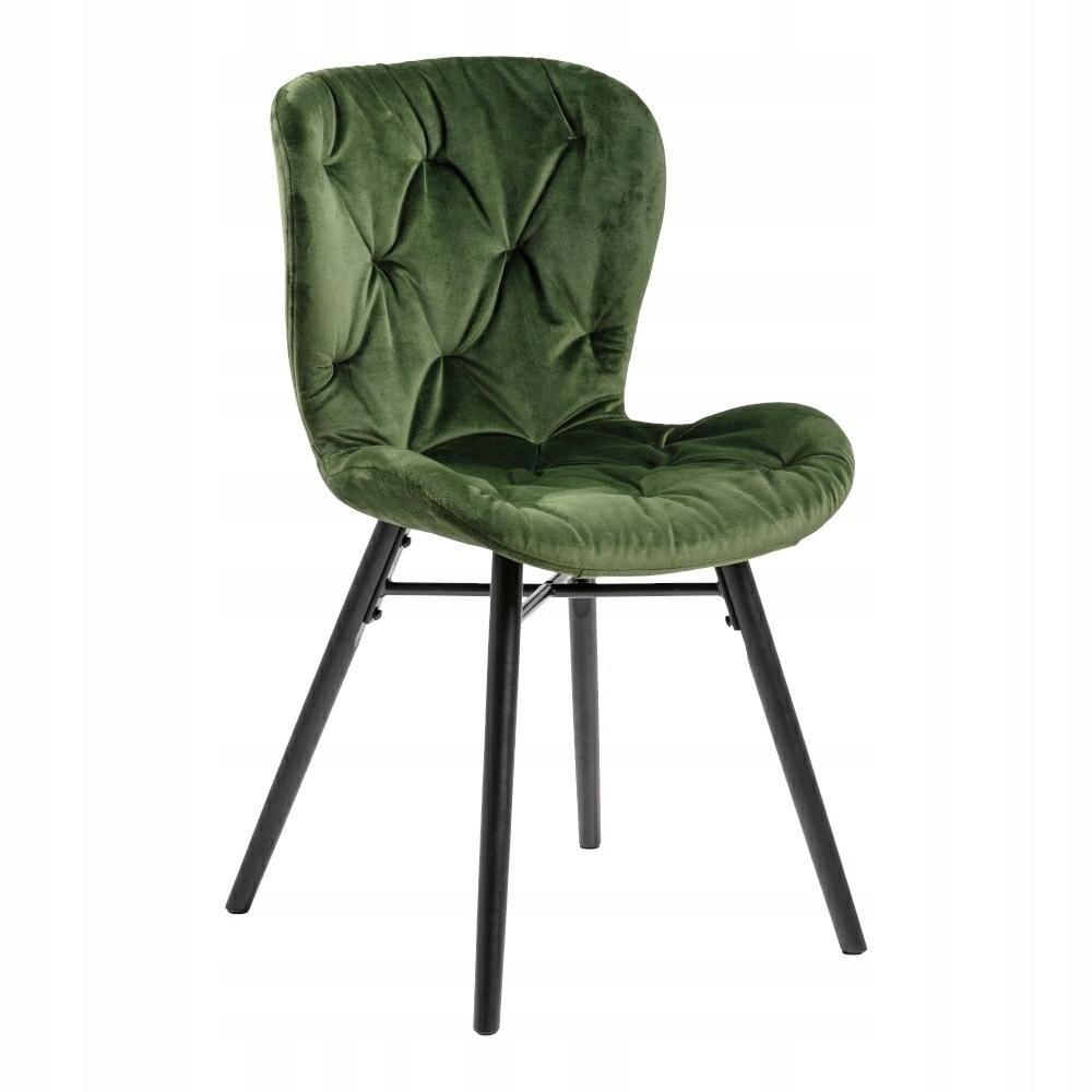 Krzesło Batilda VIC Forest green/ pikowa na
