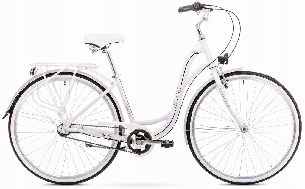 Rower ROMET SONATA 2.0 biało-czarny