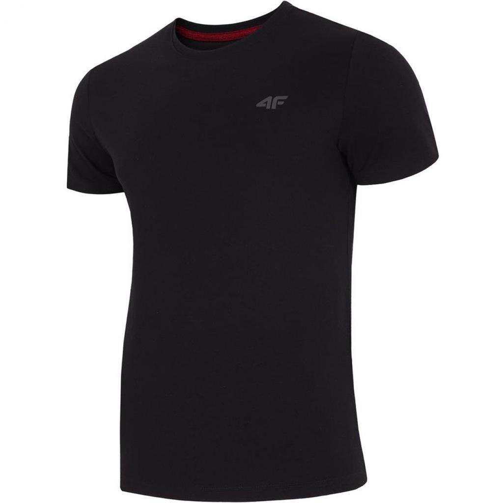 Koszulka 4f M H4L19-TSM002 głęboka czerń XL