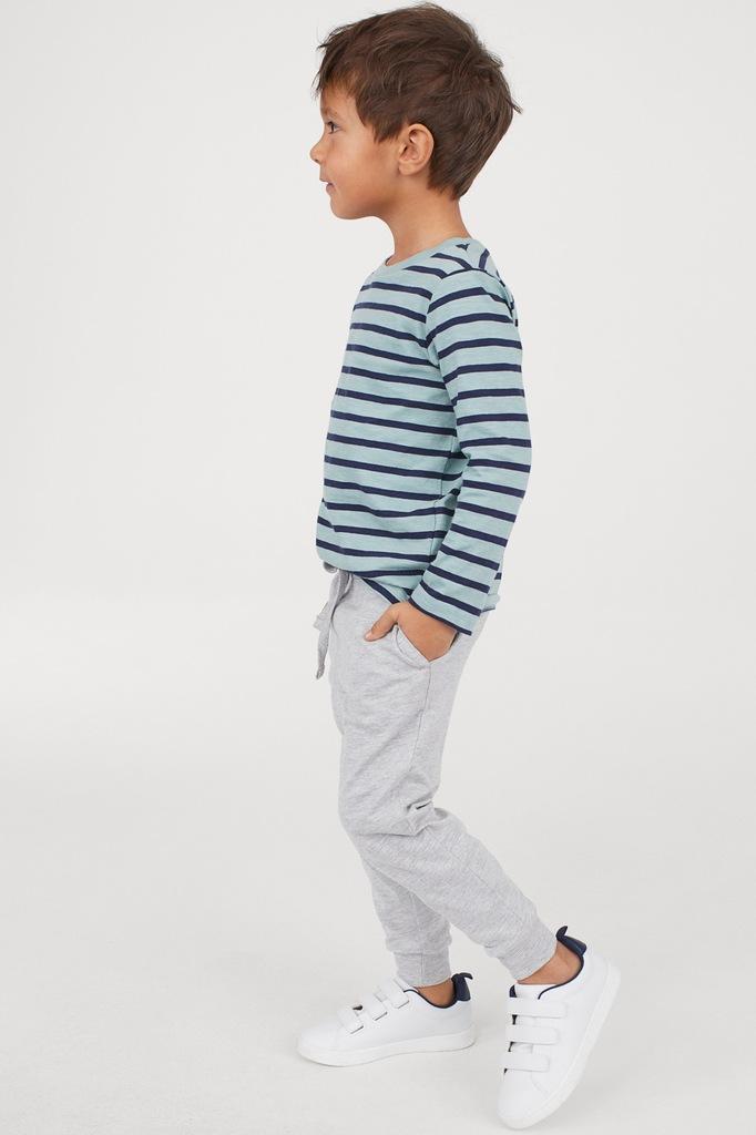 H&M szare joggersy spodni dresowe 116 5-6 nowe