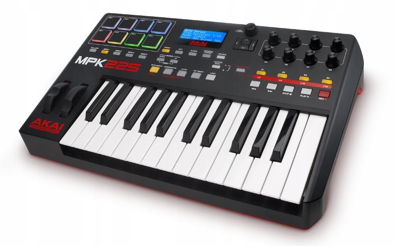 AKAI MPK 225 - Kontroler + kurs domowe studio nagr