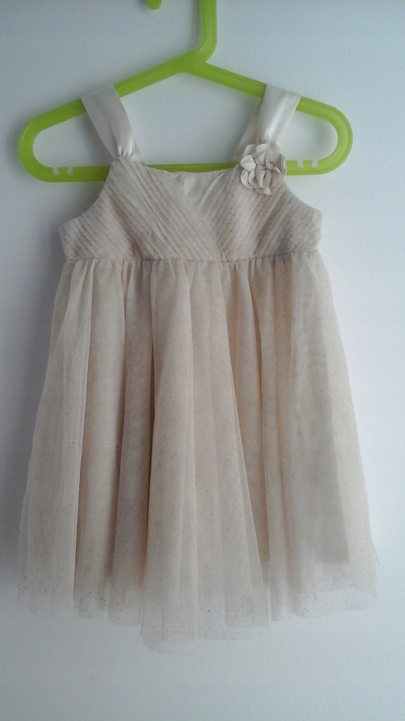 Sukienka H&M piękna_złota rozm.92 krem extra