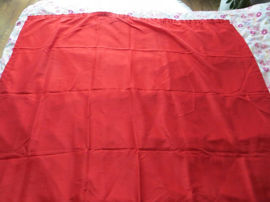 Zestaw 2 zasłon czerwonych 135x240