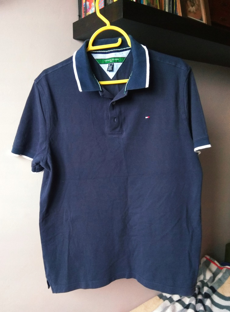 Koszulka Polo Tommy Hilfiger golf navy L lauren