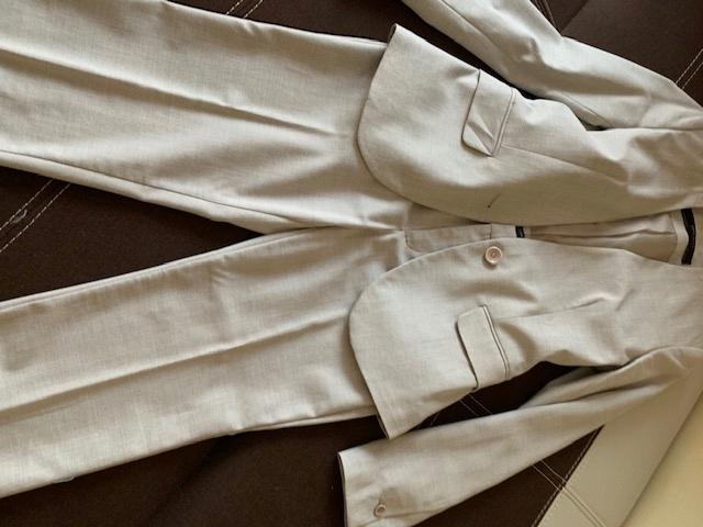 Zara garnitur damski 34 piaskowy kostium spodnie