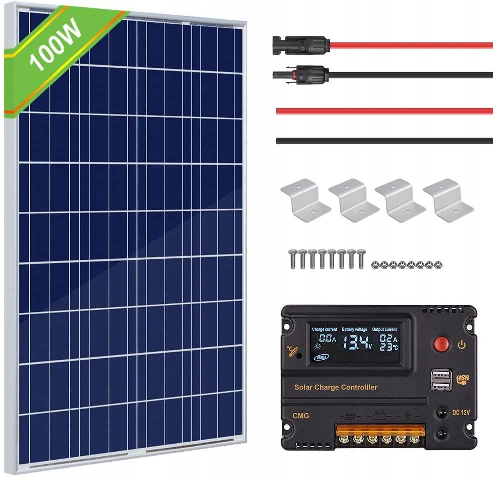 Panel Solarny Solar Eco Worthy 100 Watt 1ah17 9325186793 Oficjalne Archiwum Allegro