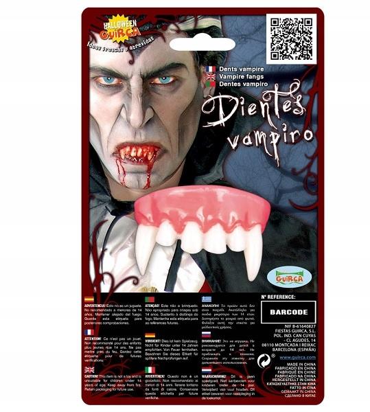 Zęby wampira akcesoria na Halloween party