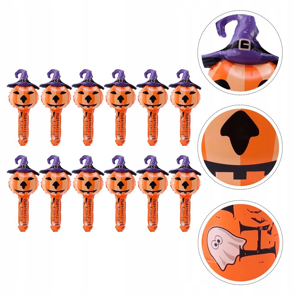 12pcs Halloween Pumpkin Head Witch Inflatable Stic