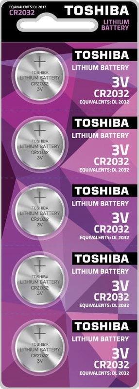 BATERIA TOSHIBA LITOWA CR2032 3V 5SZT