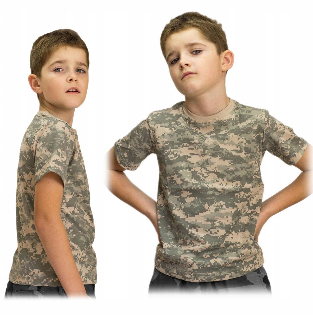 Koszulka Dziecięca Wojskowa TShirt UCP r.146