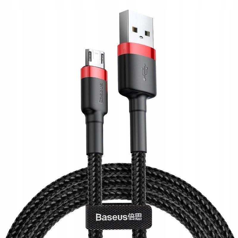Kabel Micro USB Baseus Cafule 2.4A 0.5m (czerwono-