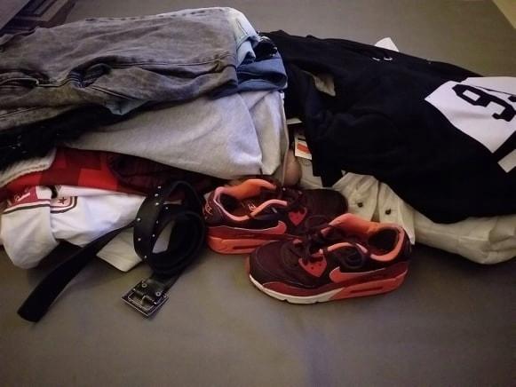 MEGA PAKA 30szt NOWE kurtki NIKE jeansy bluzki S36