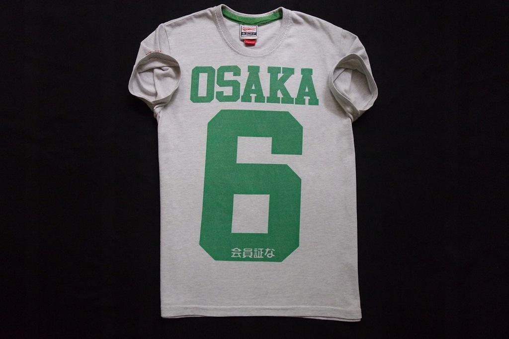 SUPERDRY koszulka szara t-shirt nadruk logowana__M