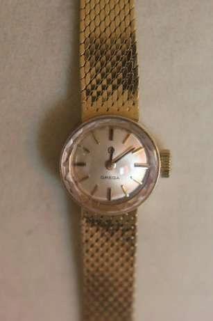 OMEGA złoty zegarek złoto 585 14k zegar apart