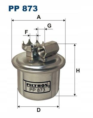 FILTR PALIWA FILTRON ROVER 200 216 1.6i 122KM 90KW