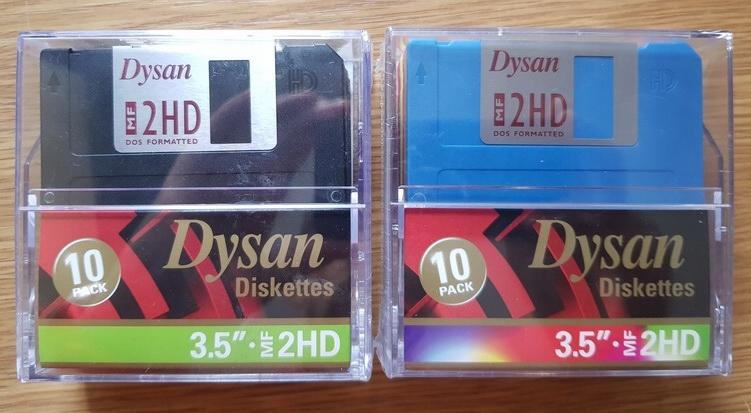 Dyskietki 1.44 DYSAN 2HD czarne nówki