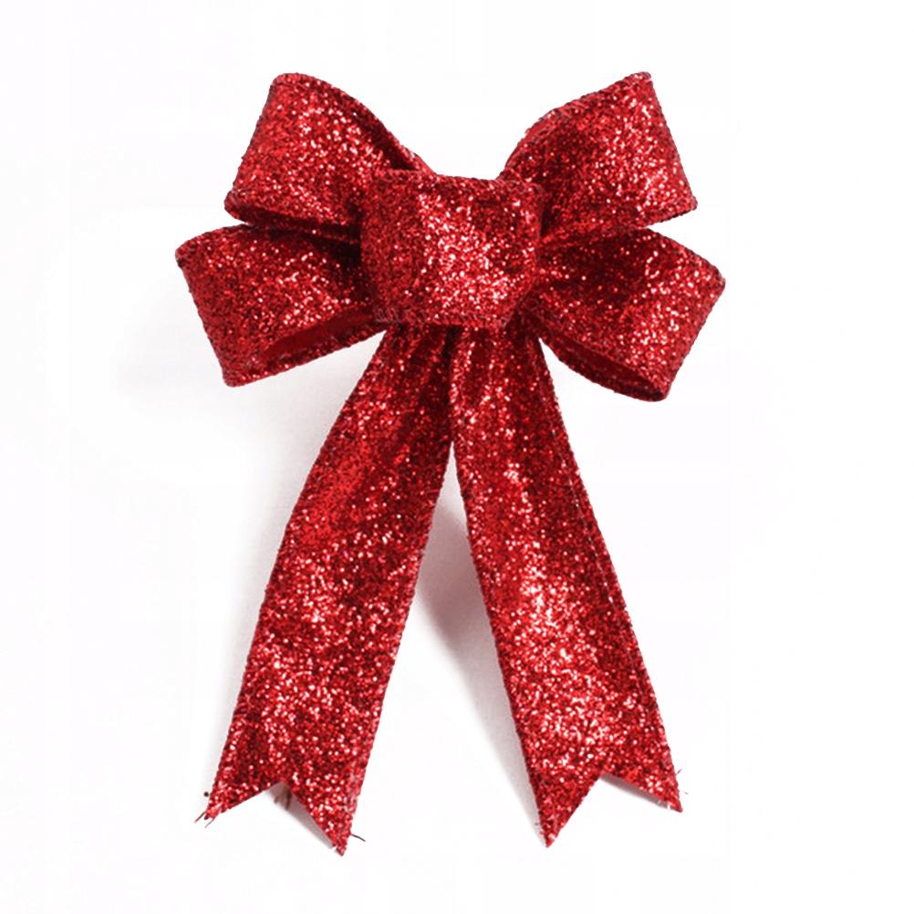 Złoty brokat Sztuczne świąteczne prezenty świątecz