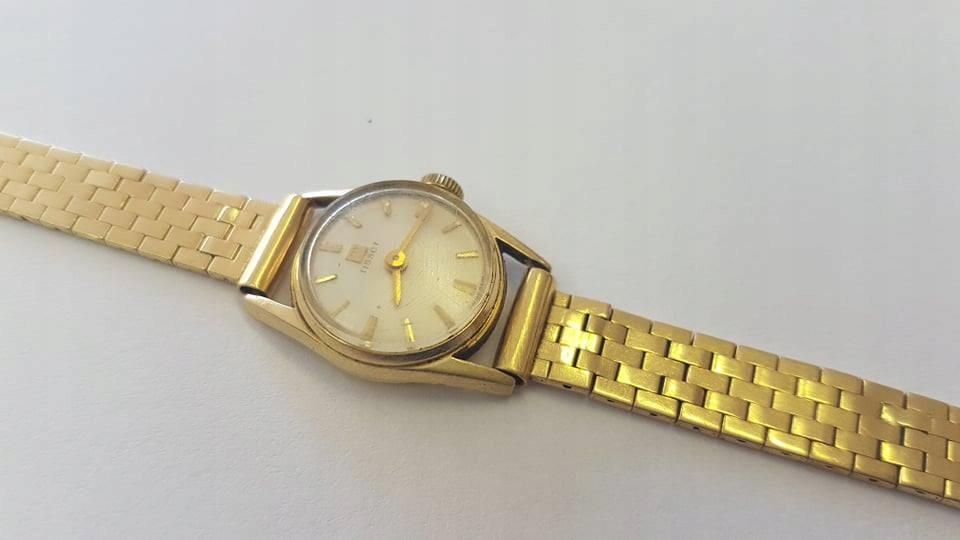 Złoty zegarek Tissot próby 750