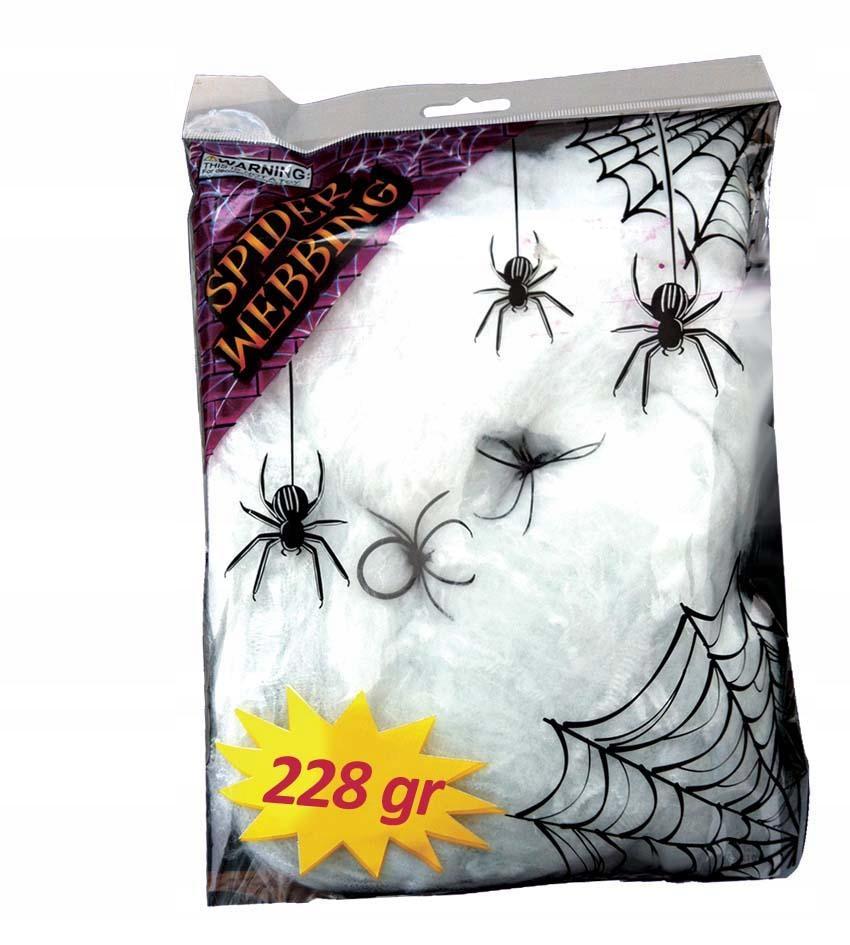 Pajęczyna biała 228g akcesoria na Halloween party