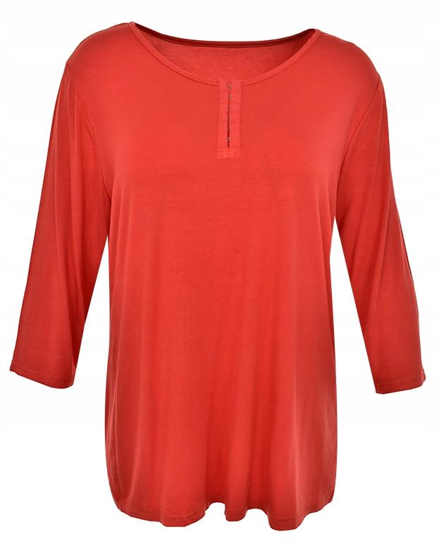 eBE2390 koralowa bluzka z haftkami 50